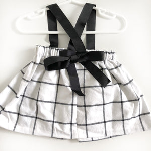 Grid Suspender Skirt