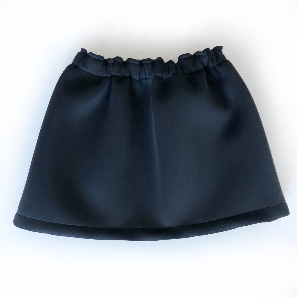 Black Neoprene Mini Skirt