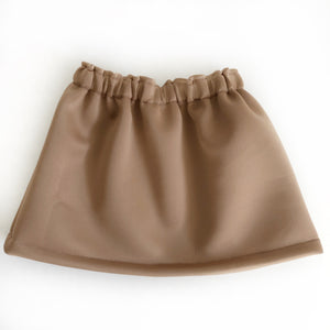 Camel Neoprene Mini Skirt