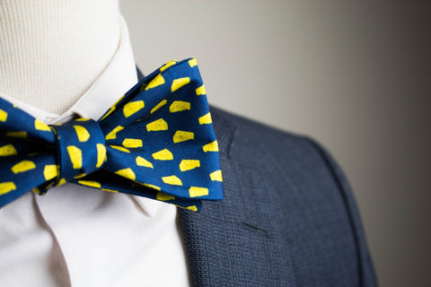 Big Blue Cheese Bow Tie