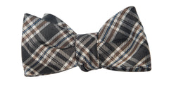 Black and Brown Plaid Bow Tie