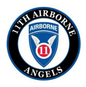 Army 11th Airborne Wings Patch