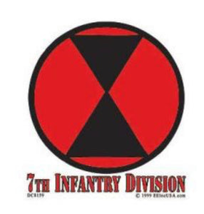 7th Infantry Division Decal (Inside)
