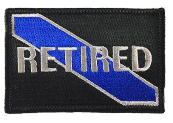 Retired Blue Line Velcro Patch