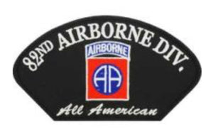 82nd Airborne Hat Patch