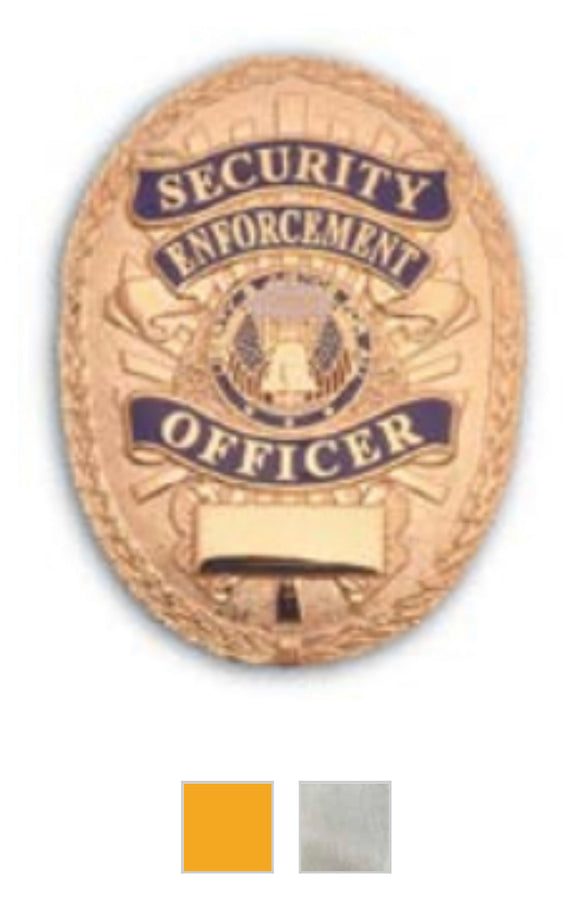 Oval Security Enforcement Badge