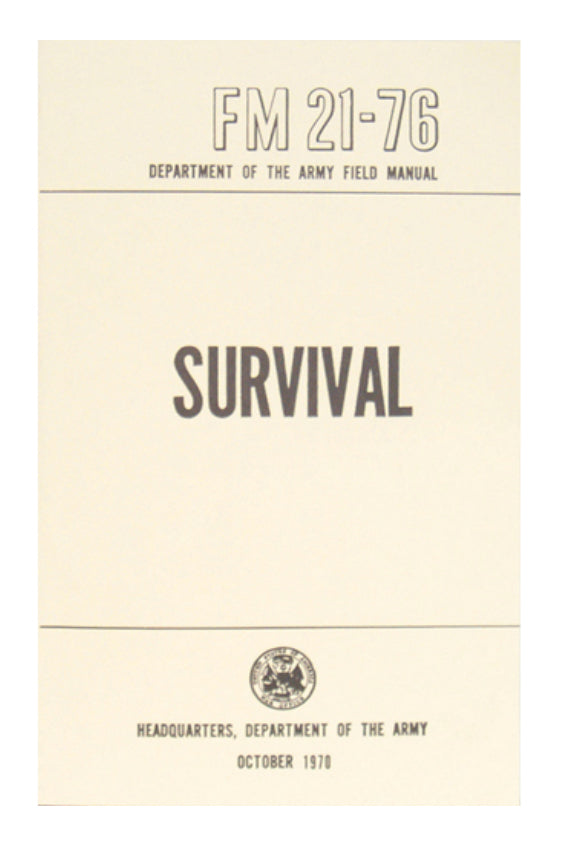 Survival - Army Field Manual Book