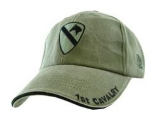 1st Cavalry Cap - OD Washed