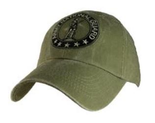 OD Washed Army National Guard Cap