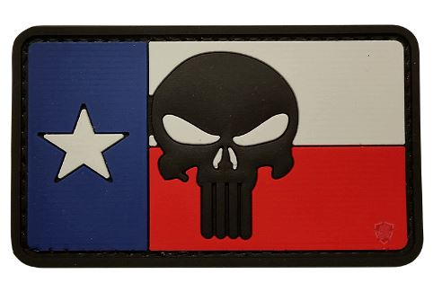 Texas Flag Skull Patch w Velcro