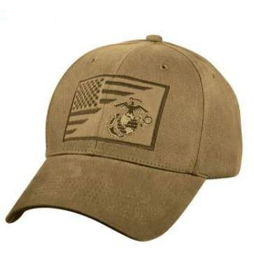 Marine EGA w  USA Flag Low Pro Cap