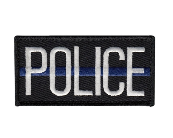 Blue Line Police Velcro Patch