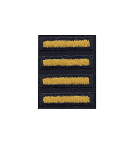 Army Dress Uniform Overseas Bars Gold on Blue