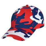 Red White Blue Camo Cap