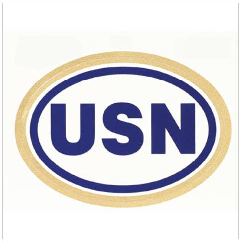 Oval USN Decal