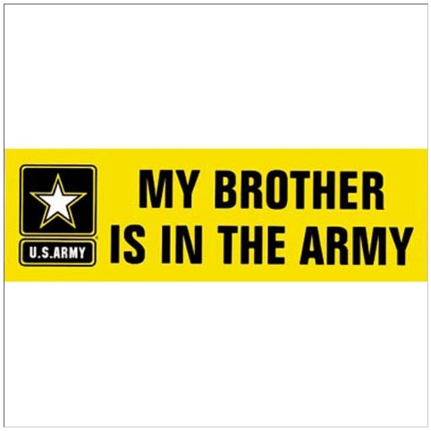 Brother in Army Bumper Sticker