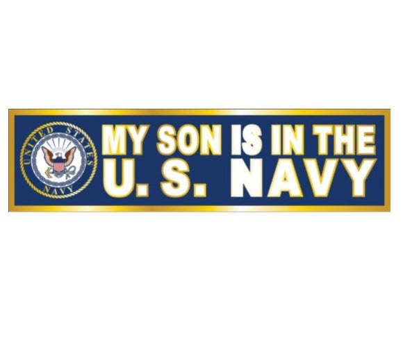 My Son is in the Navy Metallic Bumper Sticker