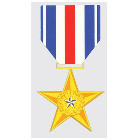 Silver Star Medal Decal