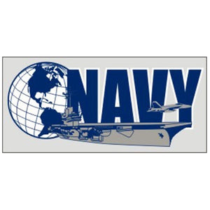 Navy Globe & Ship decal