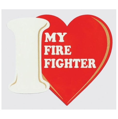 Decal  I love My Firefighter