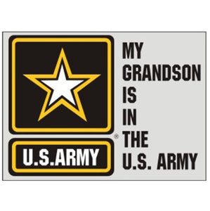 My Grandson In Army Decal