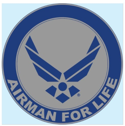 Airman for Life Round Decal