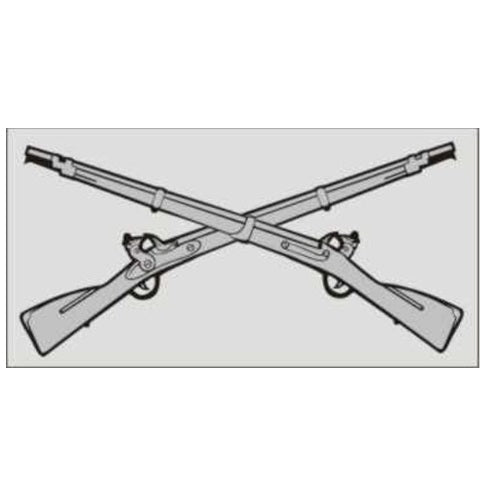 Infantry Crossed Rifles Decal
