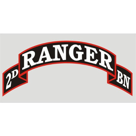 2nd Ranger Battalion Tab  Decal