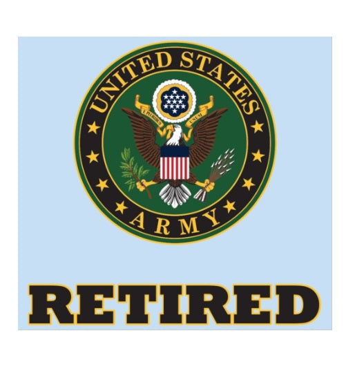 U.S. Army Retired Decal