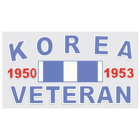 Korean Veteran w Ribbon Decal