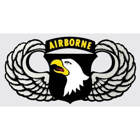 101st Airborne w/Wings Decal