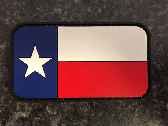 Texas Flag Rubber Morale Patch