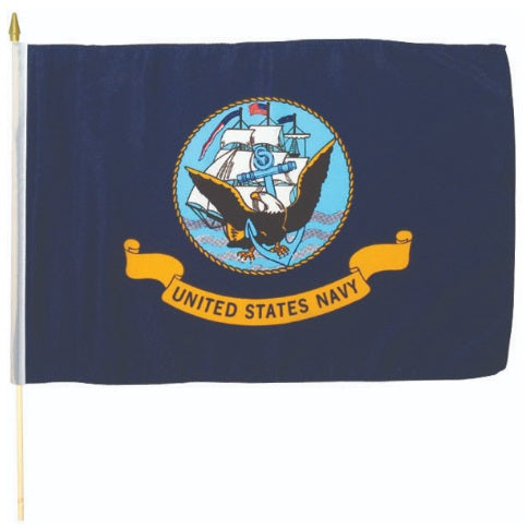 Navy Stick Flag 12