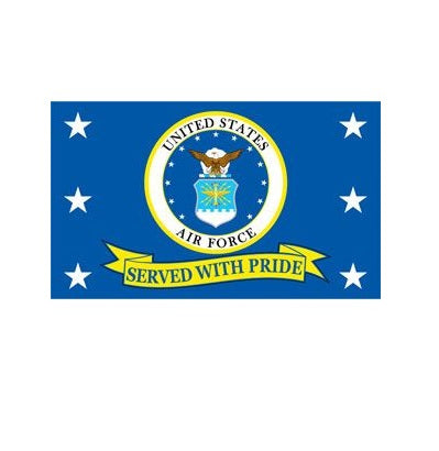 Air Force - Served with Pride Flag