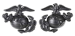 USMC EGA Collar Device Black Pair