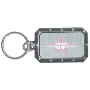 Metal Key Chain Army Wife