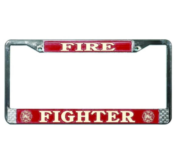 License Plate Frame - Fire Fighter
