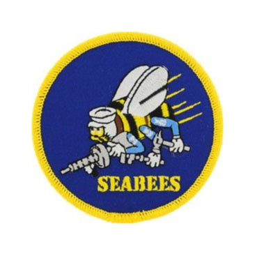 U.S. Navy Seabees Round Patch