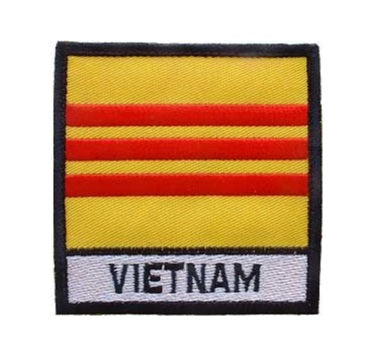 Vietnam Flag w Tab Patch