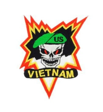 Vietnam Skull Beret Patch