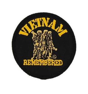 Round Vietnam Remembered Patch