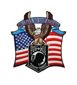 POW MIA Eagle & US Flag Patch