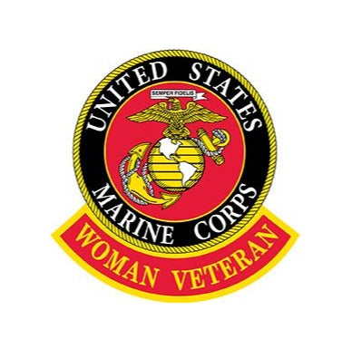 USMC Logo Woman Veteran Patch