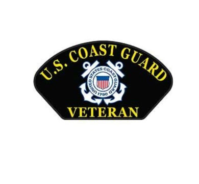 U.S. Coast Guard Veteran Hat Patch
