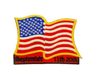 Wavy USA Flag 911 Patch
