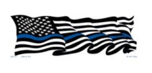 Wavy Flag Blue Line Sticker