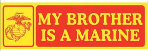 Bumper Sticker Brother Marine