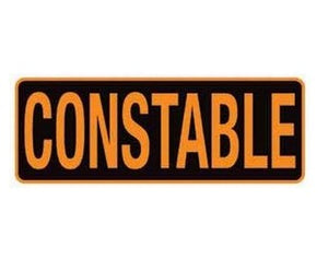 Constable Large Back Patch