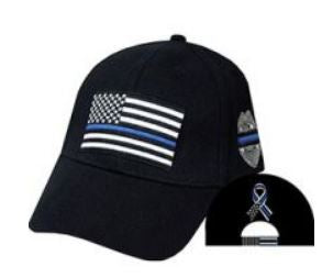 Thin Blue Line Flag & Badge Cap