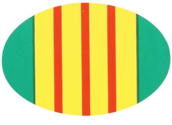 Oval Decal Vietnam Ribbon